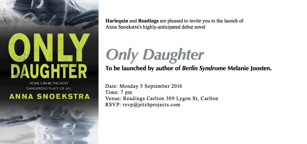 Only Daughter Melbourne launch invite